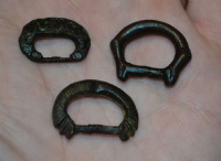 A nice group of 3 assorted Late Norman to Early Medieval Buckles found in North Yorkshire. SOLD